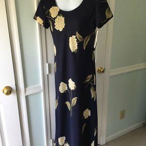 NWT navy blue flower dress